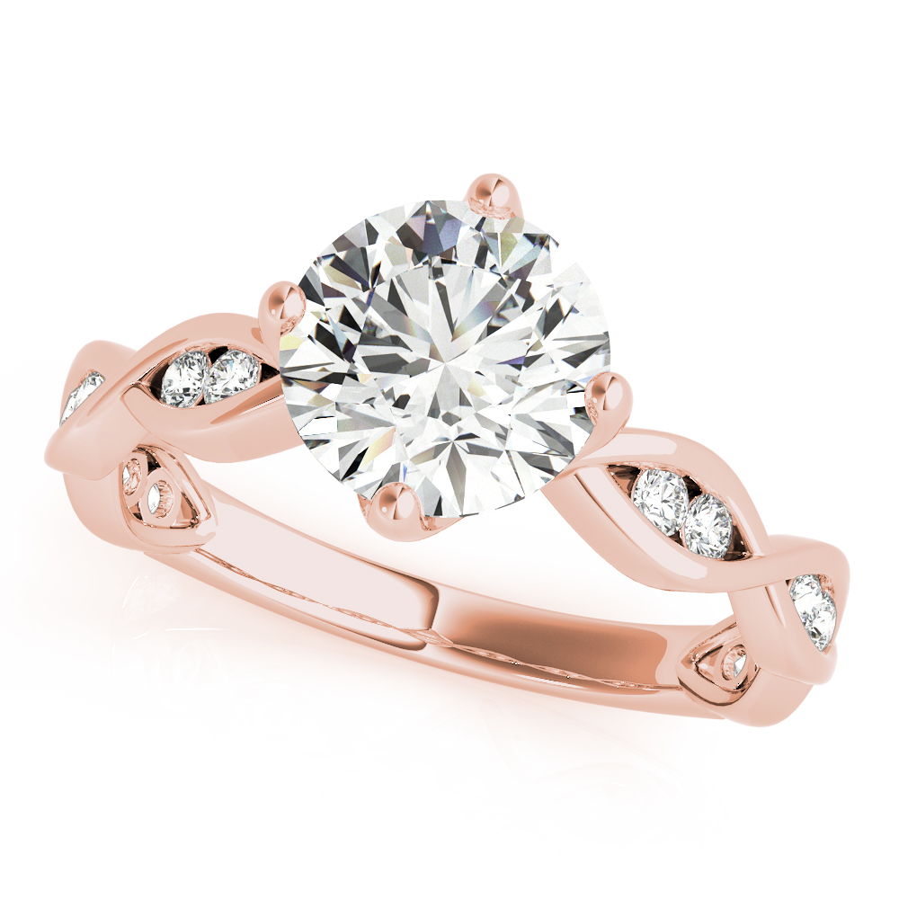Channel Infinity Diamond Bridal Set Rose Gold