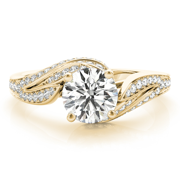 Floral Vine Diamond Engagement Ring Yellow Gold