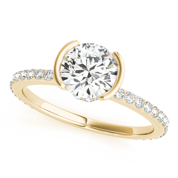 Bezel Engagement Ring Yellow Gold