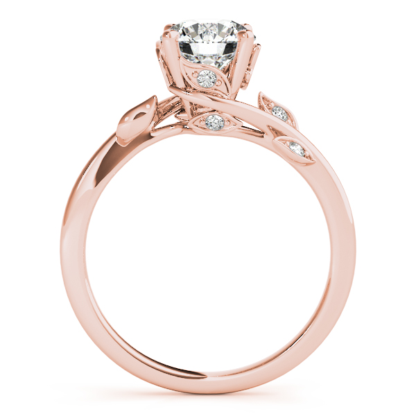 Floral Vine Diamond Bridal Set Rose Gold