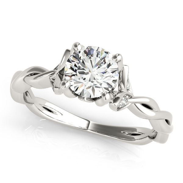 Floral Intertwined Diamond Ring