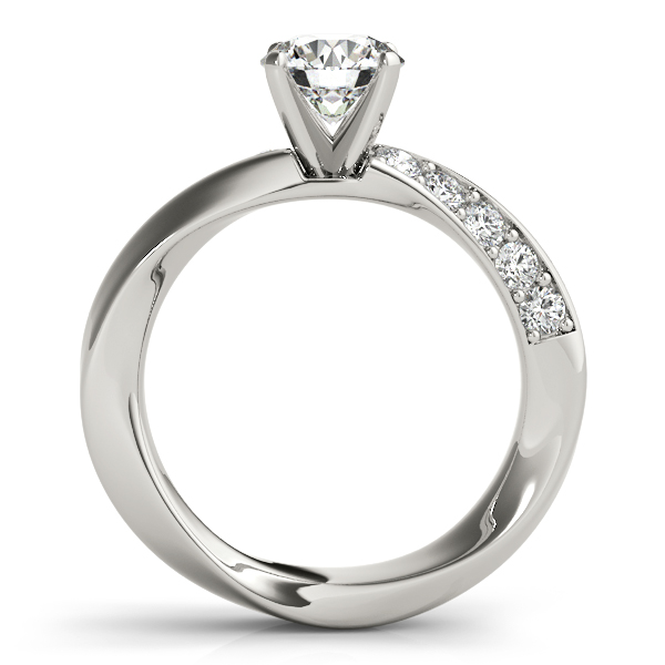 Swirl Intertwined Diamond Ring