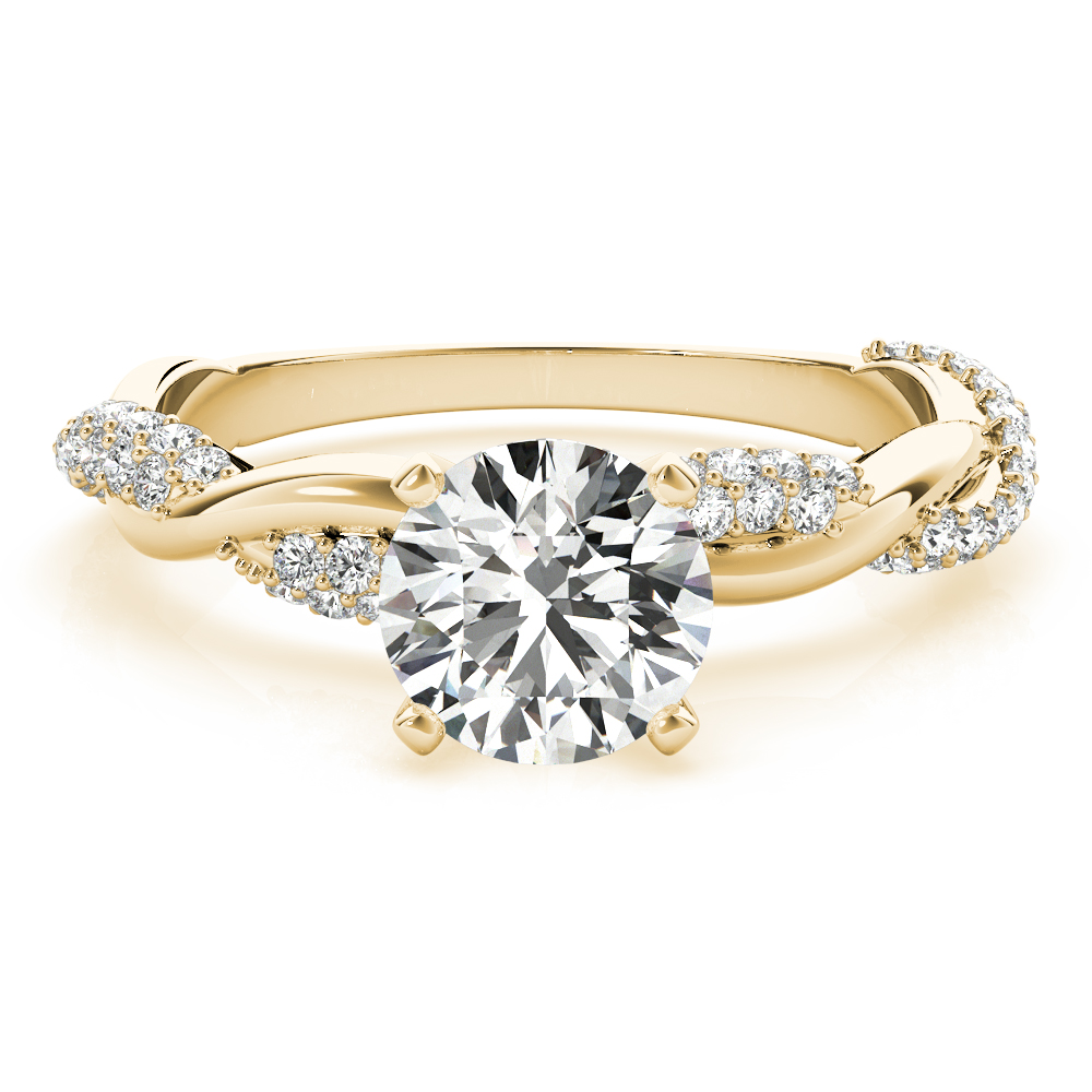 Etoil Infinity Diamond Engagement Ring Yellow Gold
