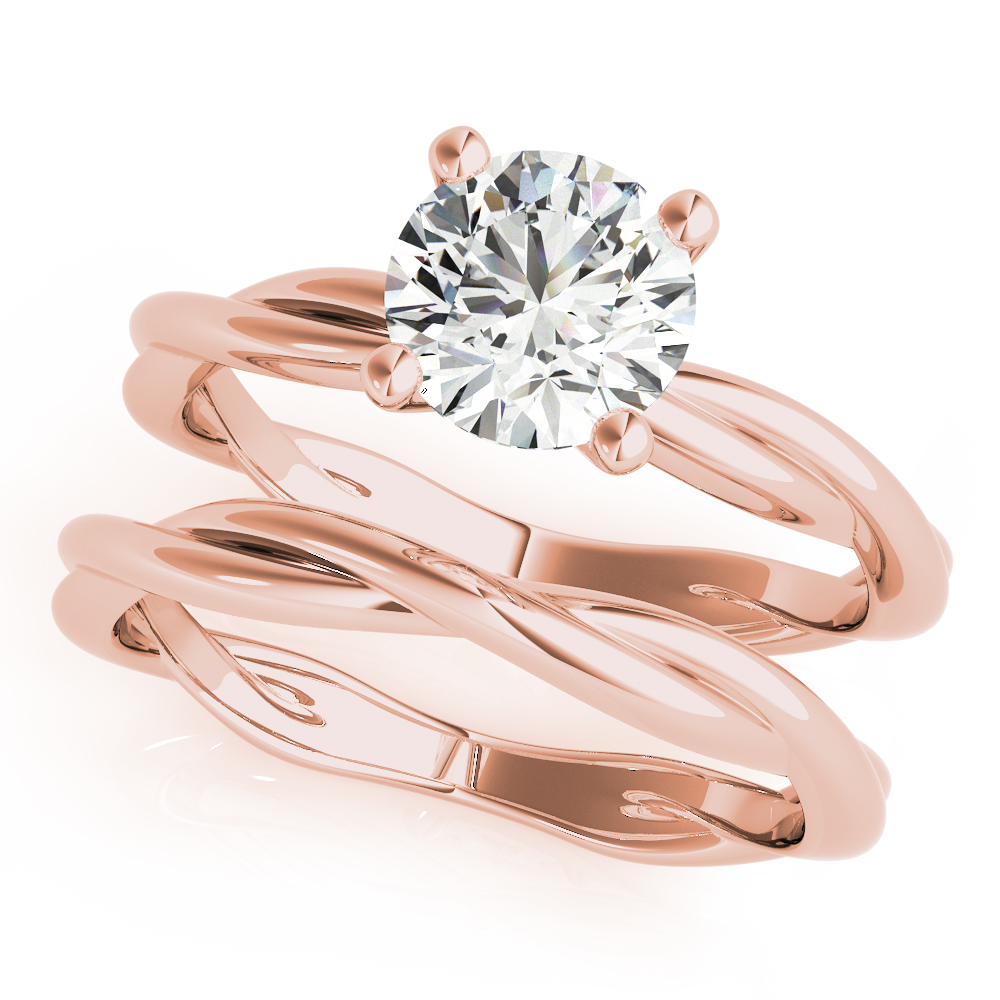 Solitaire Infinity Bridal Set Rose Gold