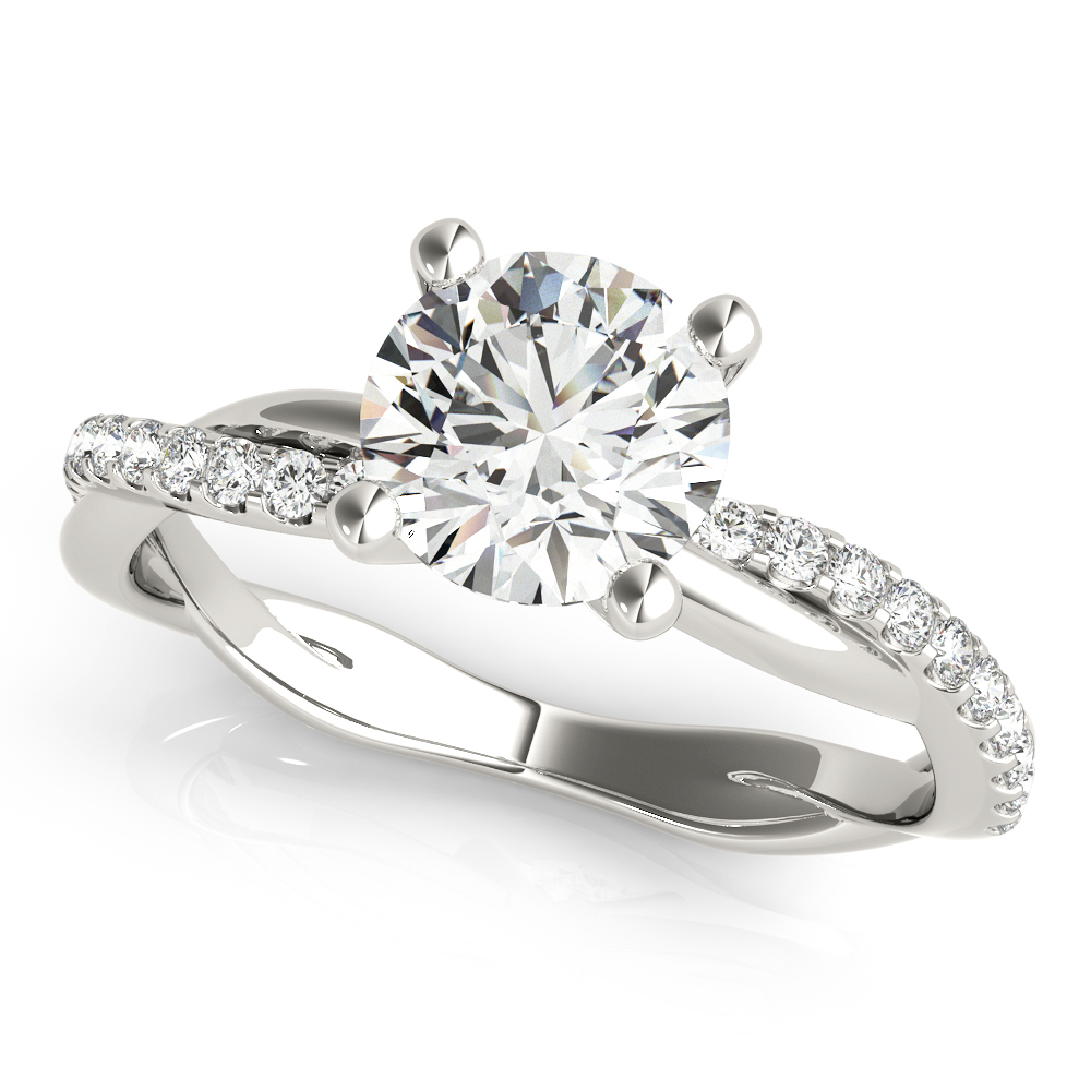 Infinity Diamond Engagement Ring