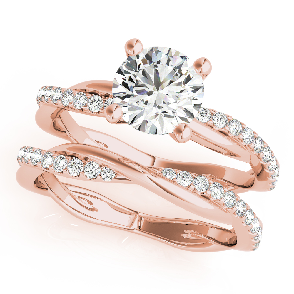 Infinity Diamond Bridal Set Rose Gold