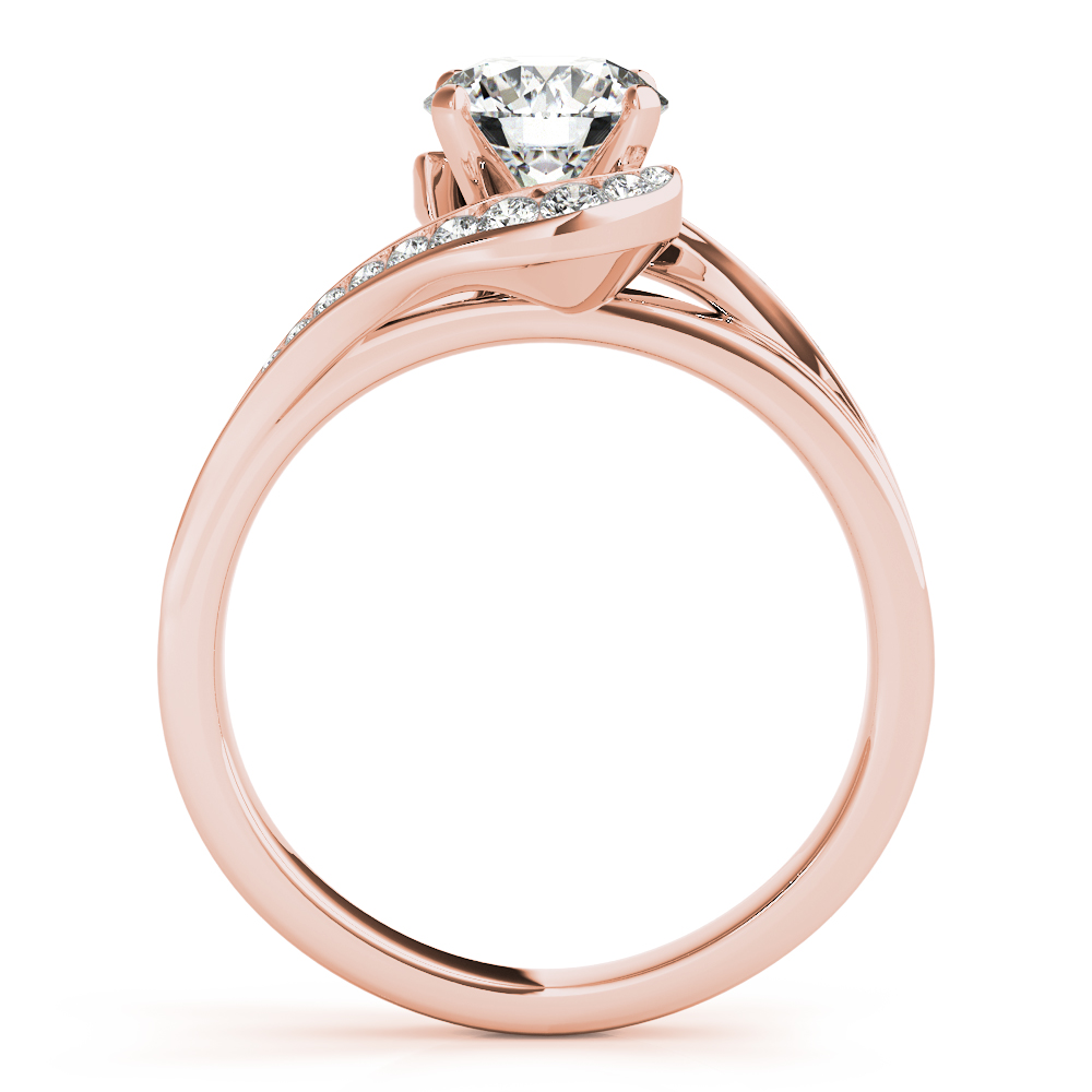 Swirl Graduated Halo Bridal Set Rose Gold