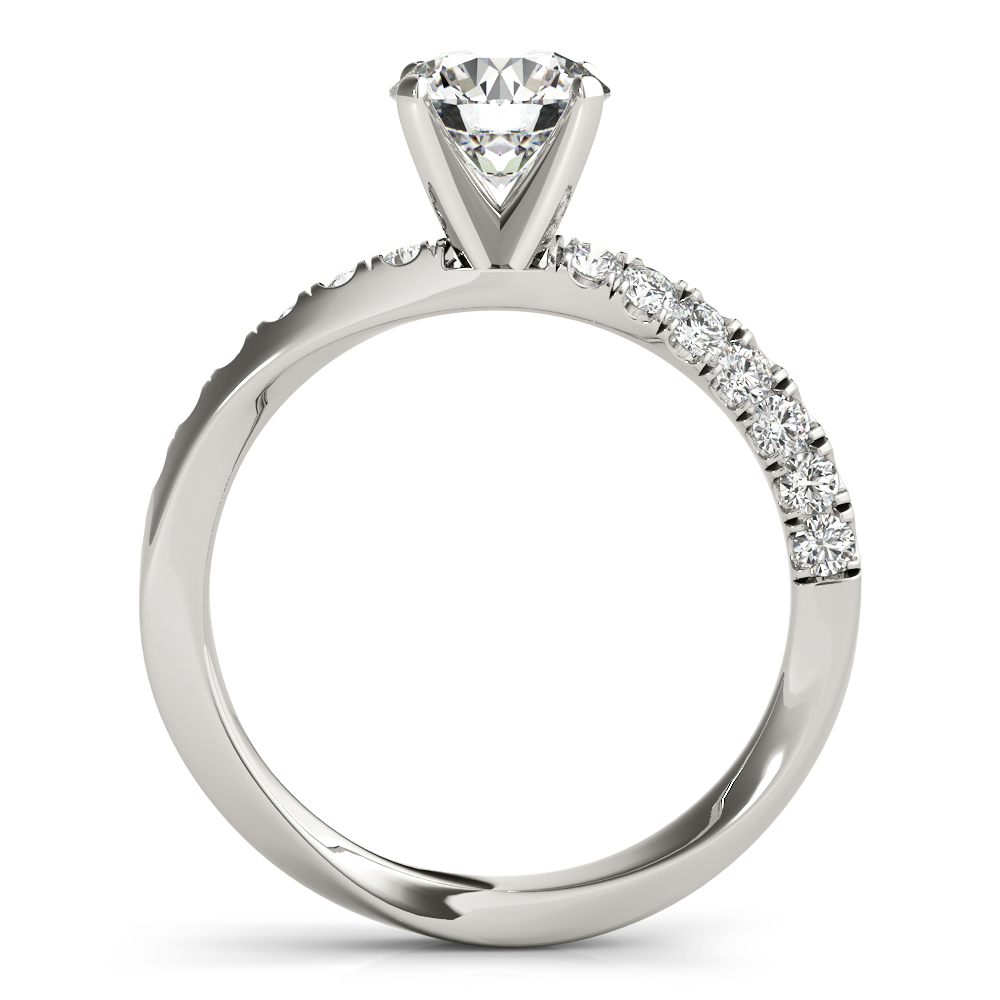 Knife Edge Swirl Engagement Ring
