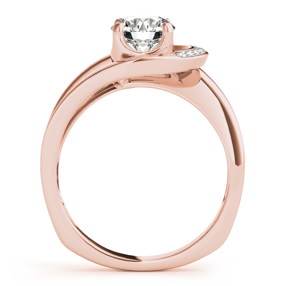 Half Crescent Bridal Set Rose Gold