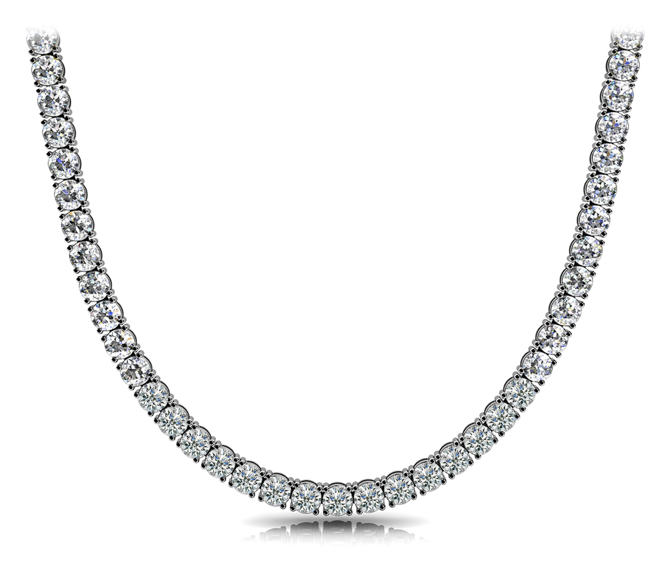 39.5 Carat Diamond Riviera Necklace GIA