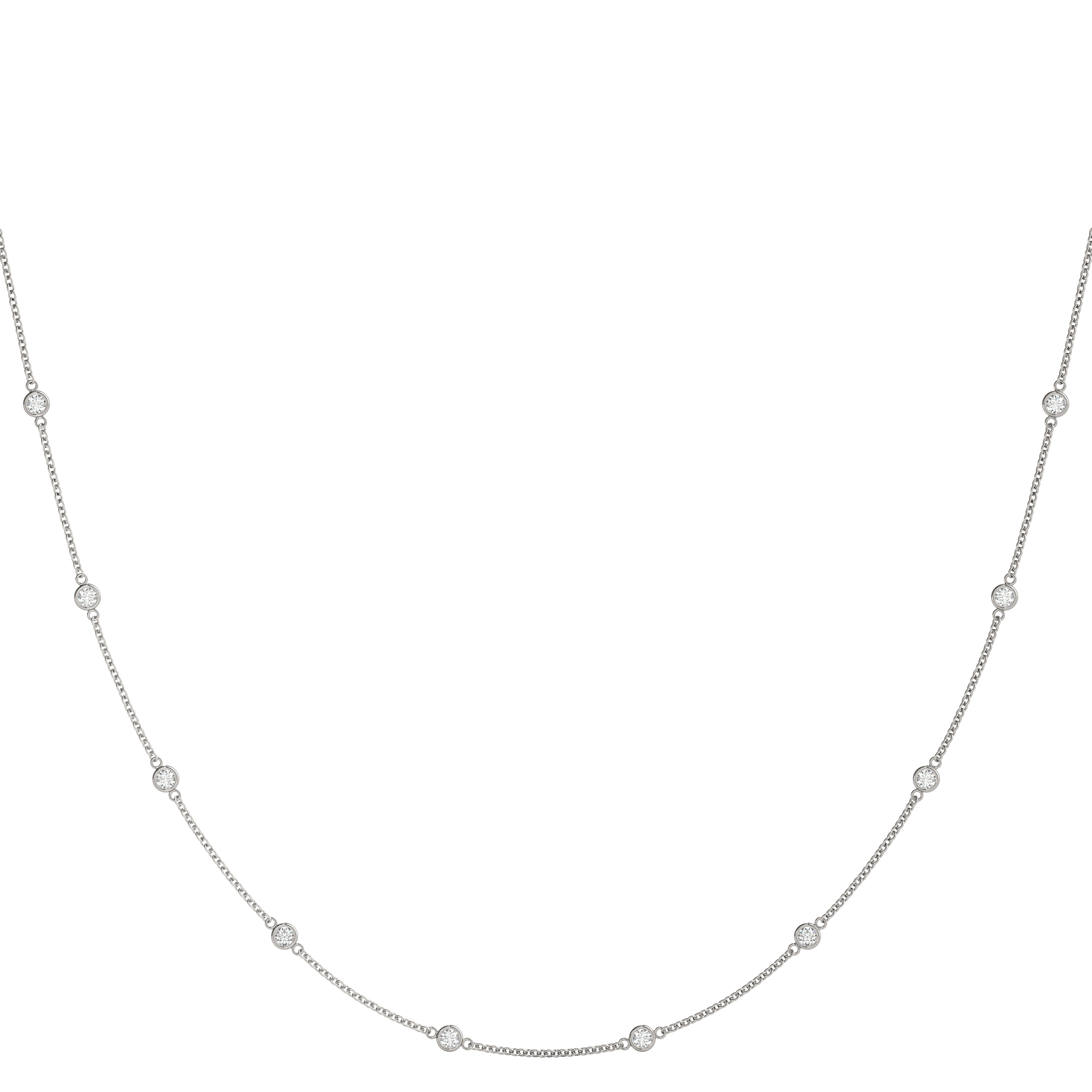 10 Diamonds By the Yard Necklace 1.25 Ct.