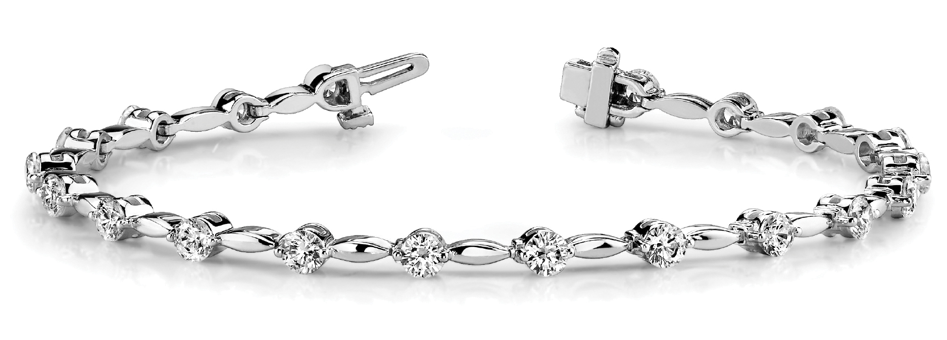 Bar Link Diamond Bracelet 0.99 Carat