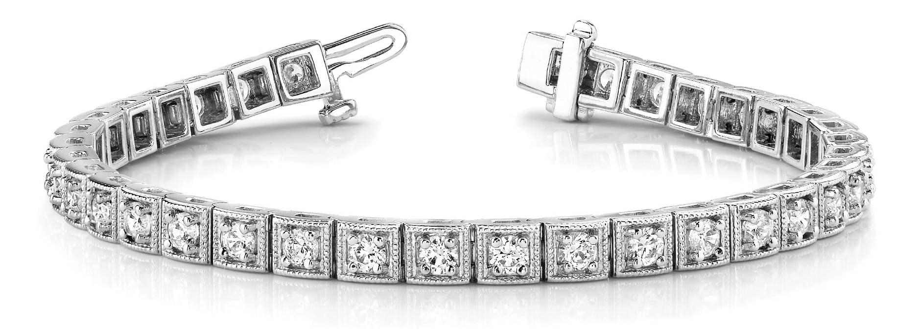 Round Diamond Square Tennis Bracelet 3 ct.