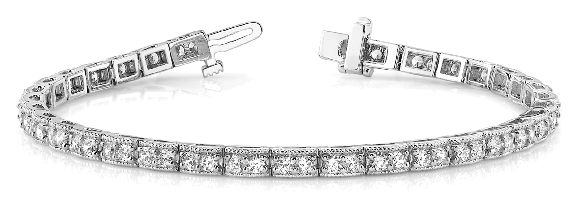 Petite Duo Round Diamond Bracelet 2 ct.