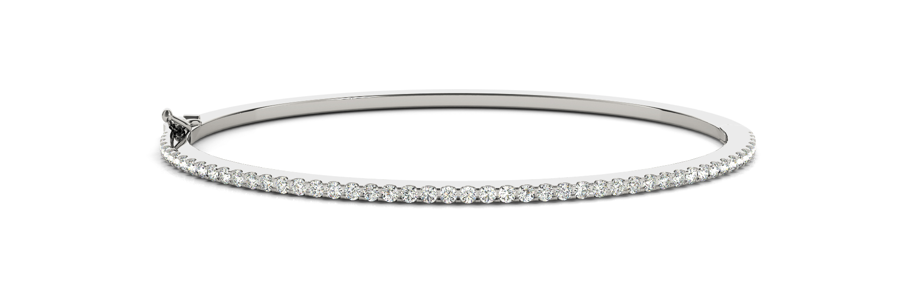 Diamond Bangle in White Gold 0.43 tcw