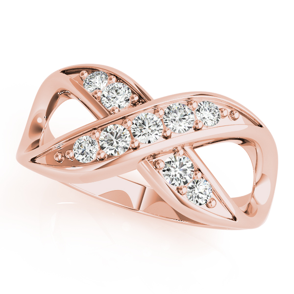XO Infinity Diamond Ring Rose Gold