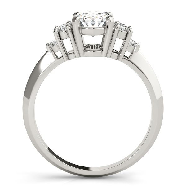 Oval Three Stone Cluster Diamond Ring