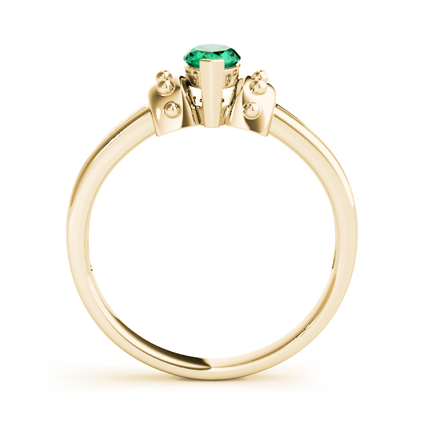 Marquise Green Emerald Spiked Gold Ring