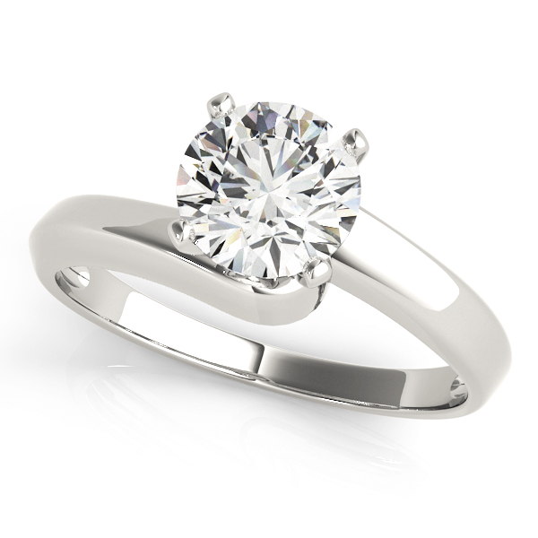 Petite Swirl Solitaire Engagement Ring