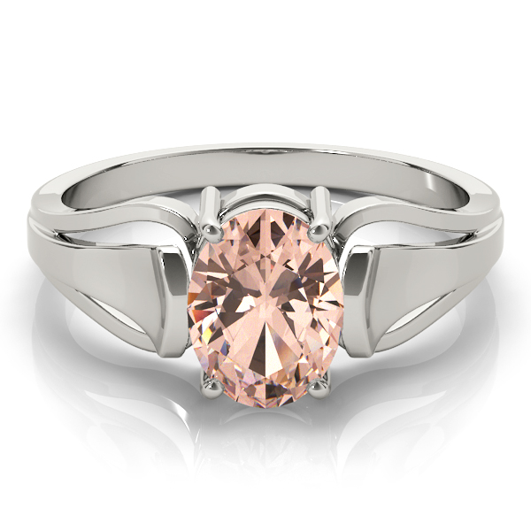 Solitaire Oval Peach Morganite Ring