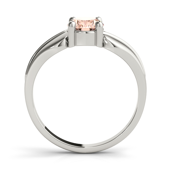 Solitaire Oval Peach Morganite Engraved Ring