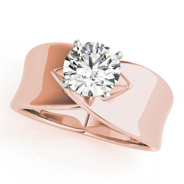 Criss-Cross Solitaire Engagement Ring in Rose Gold
