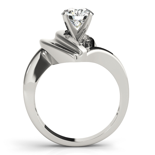 Solitaire Half Heart Engagement Ring