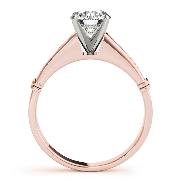 Classic Channel Set Diamond Bridal Set in Rose Gold