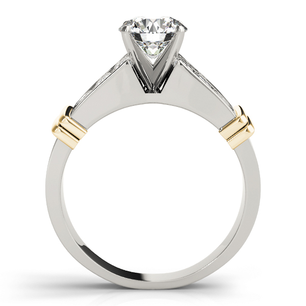 2 Row Channel Princess Diamond Engagement Ring Yellow Gold
