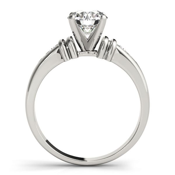 Petite Diamond Engagement Ring with Cuffs
