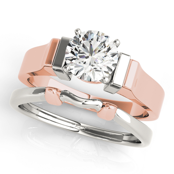 Petite Cathedral Solitaire Bridal Set in Rose-Gold
