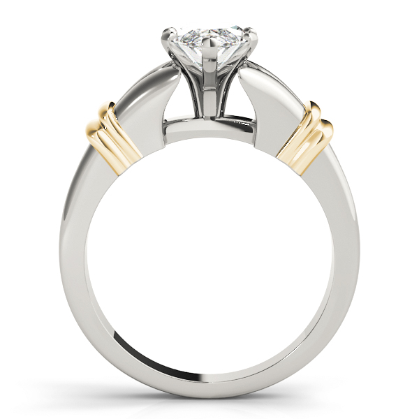 Marquise Diamond Split Band Solitaire Engagement Ring in Two-Tone