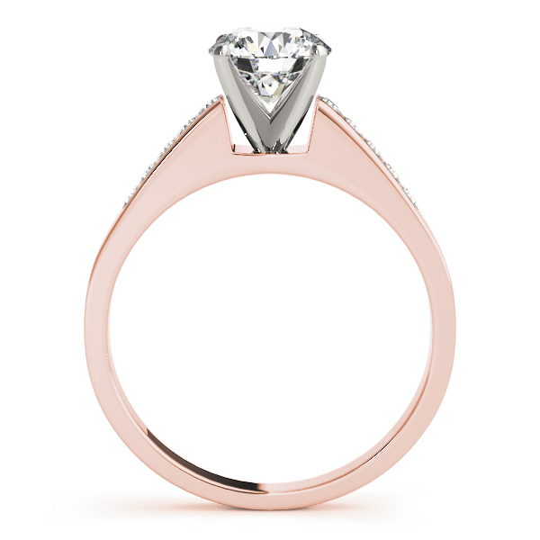 Petite Cathedral Classic Diamond Engagement Ring in Rose Gold