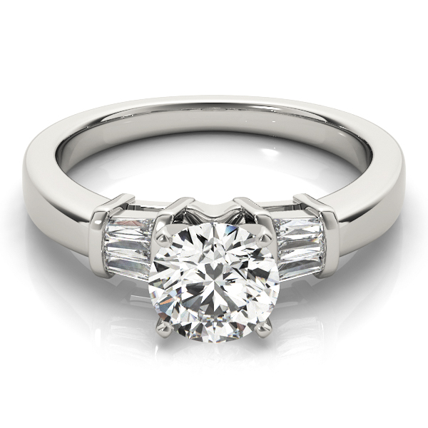 6 Baguette Diamond Engagement Ring