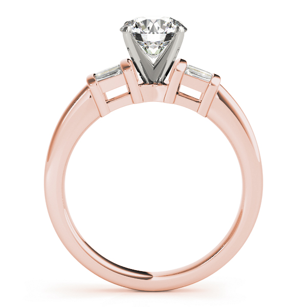 6 Baguette Diamond Engagement Ring Rose Gold