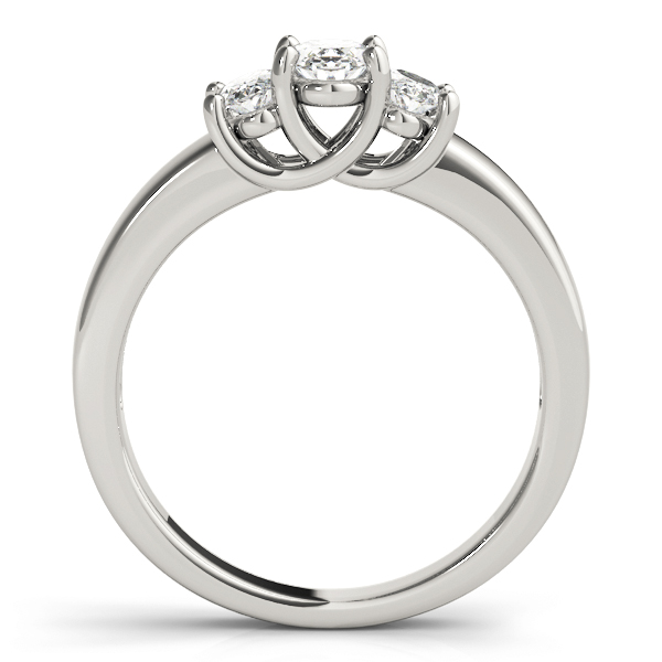 Three Stone Oval Diamond Engagement or Anniversary Ring
