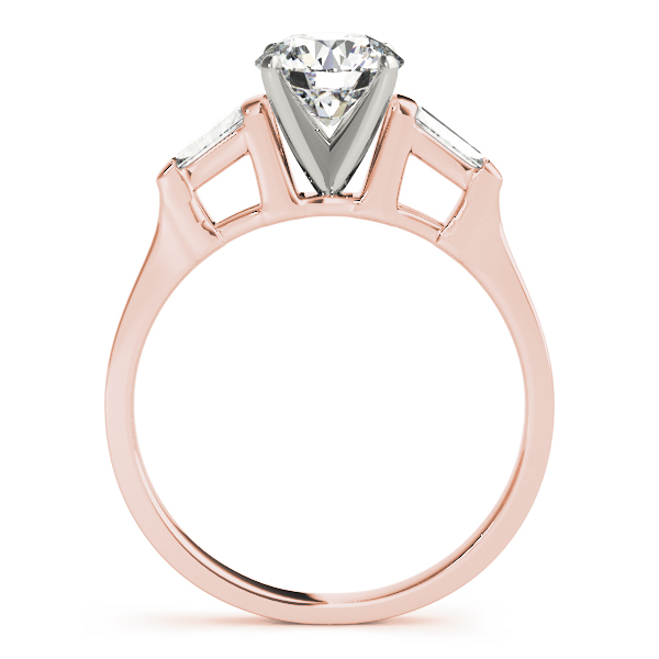 Classic Tapered Baguette Cut Diamond Engagement Ring in Rose Gold