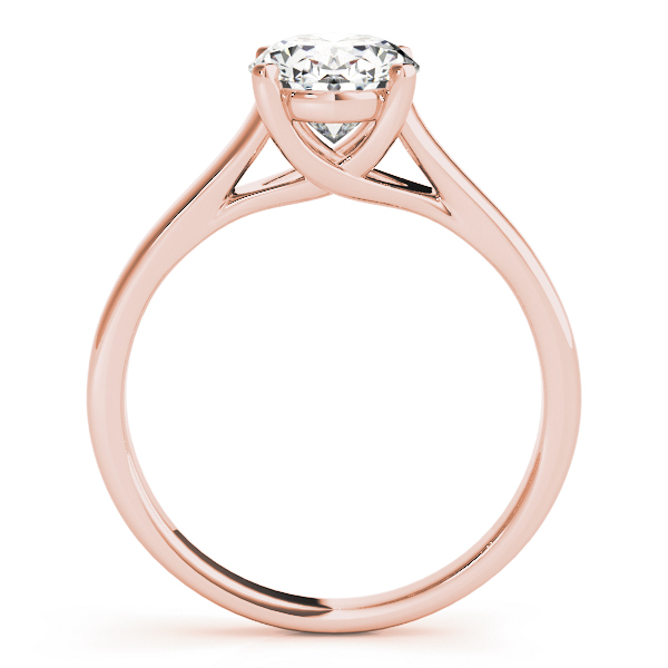 Trellis Oval Diamond Solitaire Engagement Ring in Rose Gold
