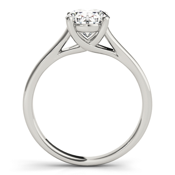 Trellis Oval Diamond Solitaire Engagement Ring
