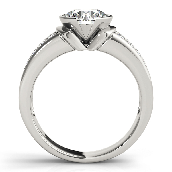 Semi Bezel Diamond Engagement Ring