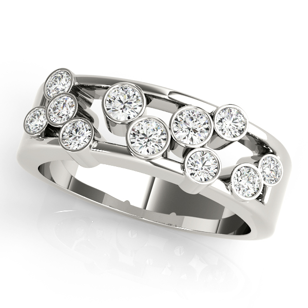 Bezel Diamond Fashion Ring Platinum