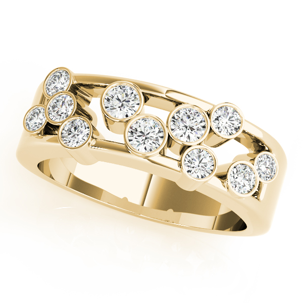 Bezel Diamond Fashion Ring Yellow Gold