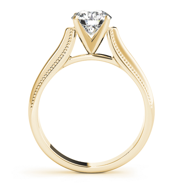 Classic Cathedral Solitaire Engagement Ring in Yellow Gold