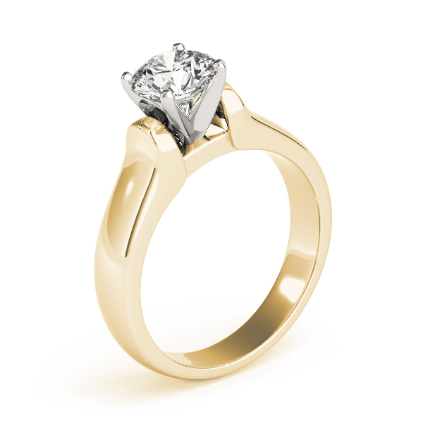 Solitaire Dome Engagement Ring in Yellow Gold