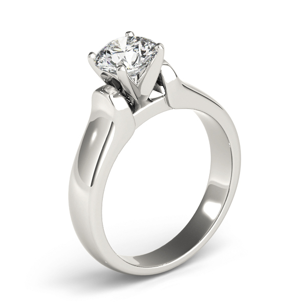 Solitaire Dome Engagement Ring