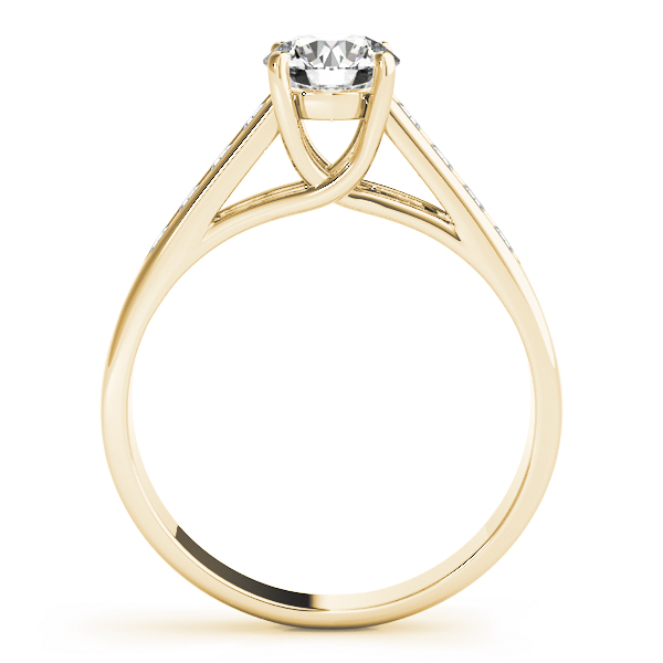 Traditional Trellis Diamond Engagement Ring in Yellow Gold