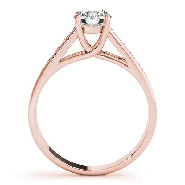 Traditional Trellis Diamond Engagement Ring in Rose Gold