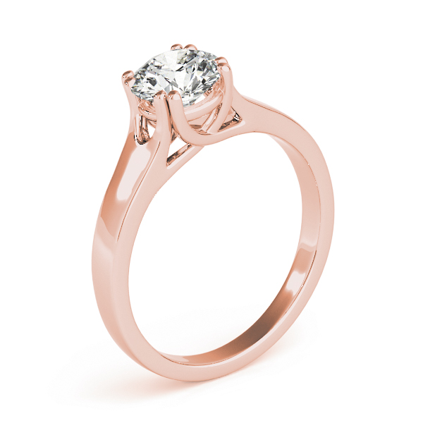 Solitaire Engagement Ring in Rose Gold
