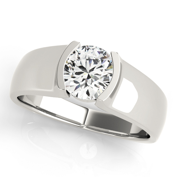 Comfort Fit Solitaire Engagement Ring in Platinum