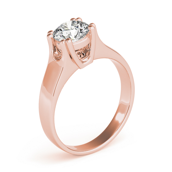 Diamond Solitaire Engagement Ring in Rose Gold